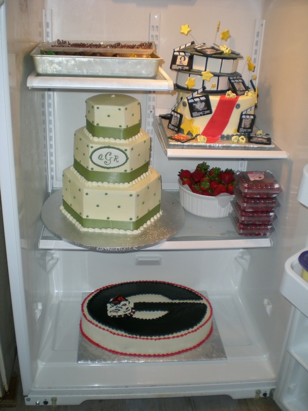 2nd fridge full of cakes!