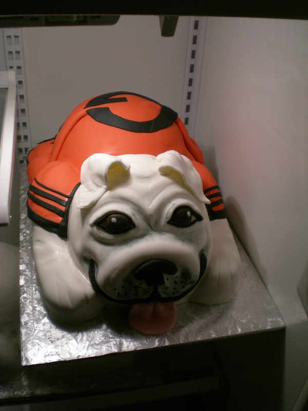 Finished Bulldog cake