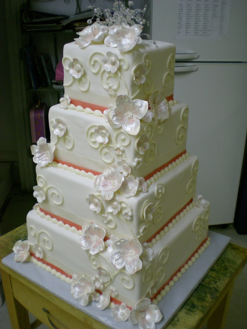 Show Cake with Sugar Flowers