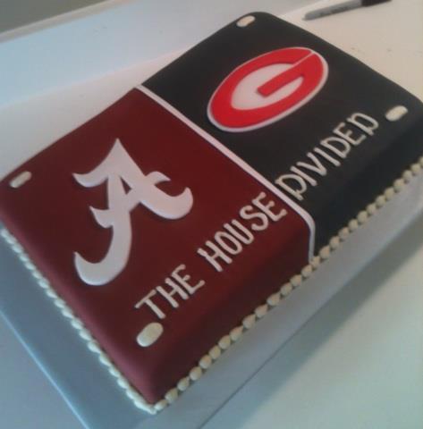 Alabama Vs Georgis House Divided Cake Envy