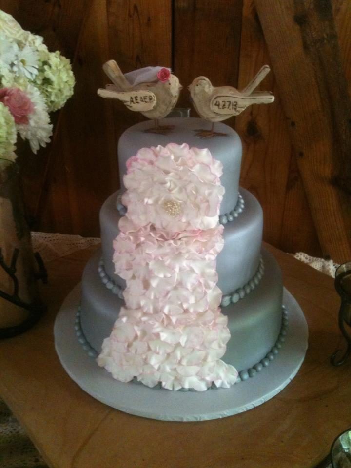 Ansley's flower petal cake