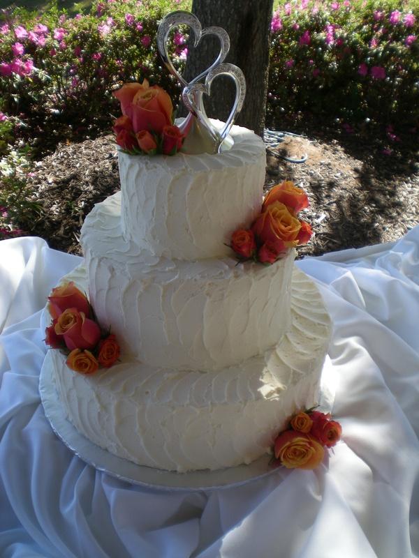 Linda & Mark's wedding cake