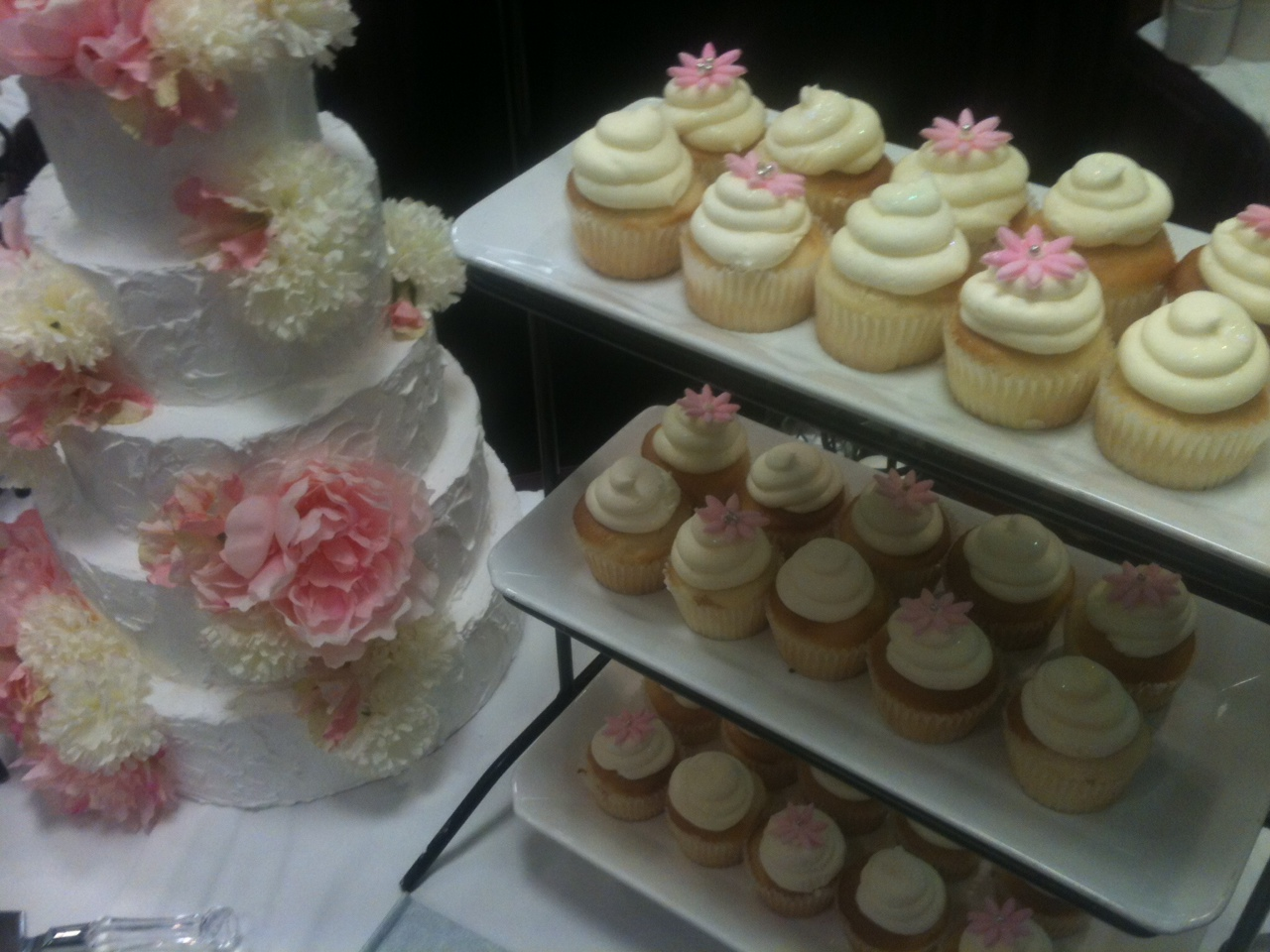 Wedding cake/cupcake display for The Doubletree Bridal Show - Cake ...